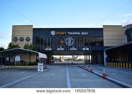 Tampa, Florida - Usa - January 07, 2016:port Tampa Bay