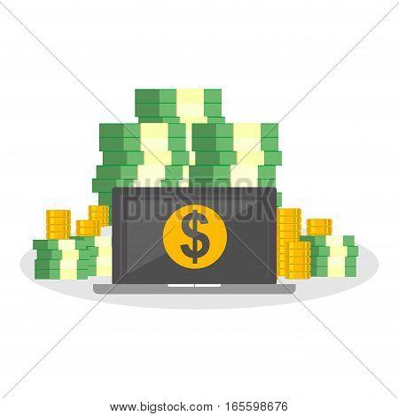 Electronic money. Online banking. Online money transaction