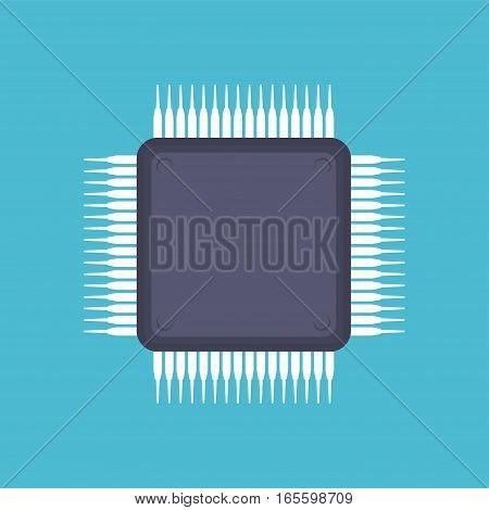 Chip icon. Microchip or nano chip icon symbol .