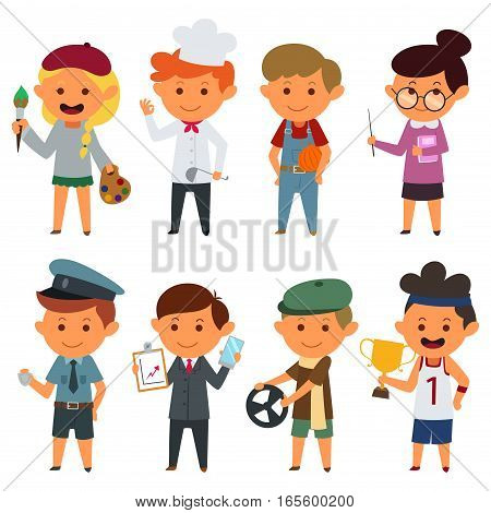 A vector illustration of Different People With Different Jobs