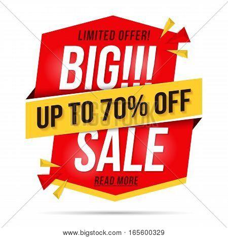 Big sale banner, modern red vertical banner for sale announcement, vector eps10 illustration