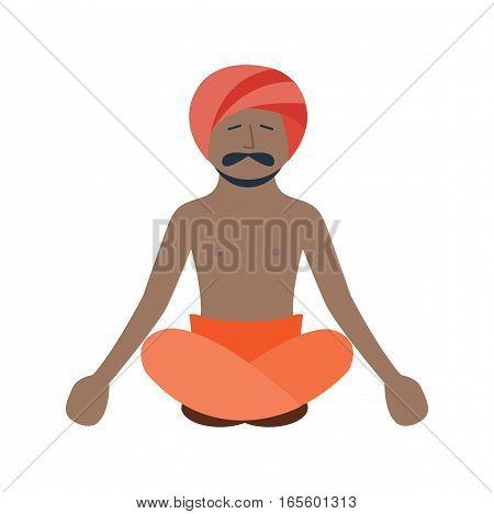 Buddha statue bangkok thailand religion man asia meditation art flat vector illustration. Spiritual face thailand religion sculpture symbol.