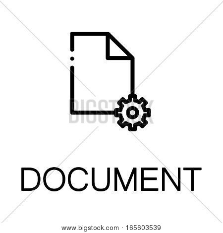 Document icon. Paper single high quality outline symbol for web design or mobile app. Thin line sign for design logo. Black outline pictogram on white background