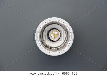 ceiling light energy saving on gray ceiling