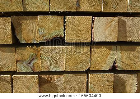 stacking square wood showing cross section for design