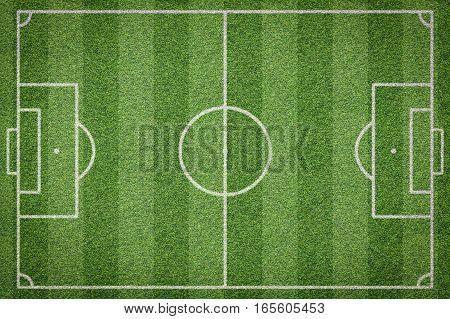top view of soccer field football field