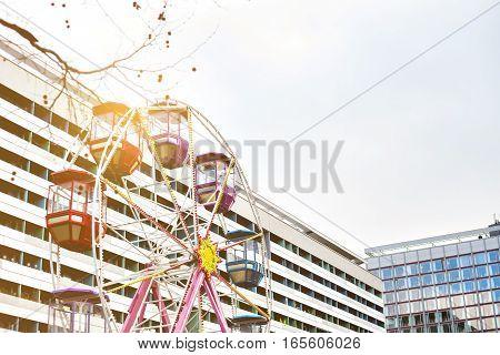 Ferris wheel. Carousel. Circus. Conceptual. Recreation and entertainment.