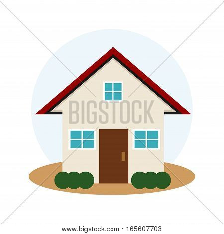 Simple flat design of home icon. House symbol