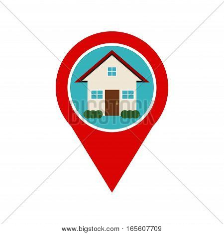 Home location marker icon. Home location spot.