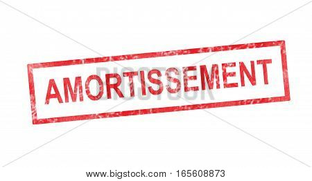 Amortization In French Translation In Red Rectangular Stamp