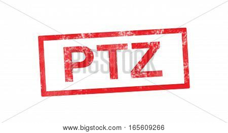 PTZ acronym in a red rectangular stamp