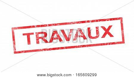 Works In French Translation In Red Rectangular Stamp