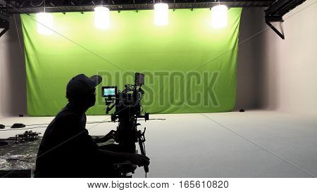 Camera Man Working In Studio.