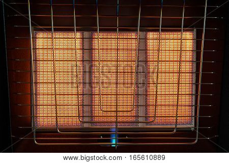 incorporated gas heater closeup a dark background