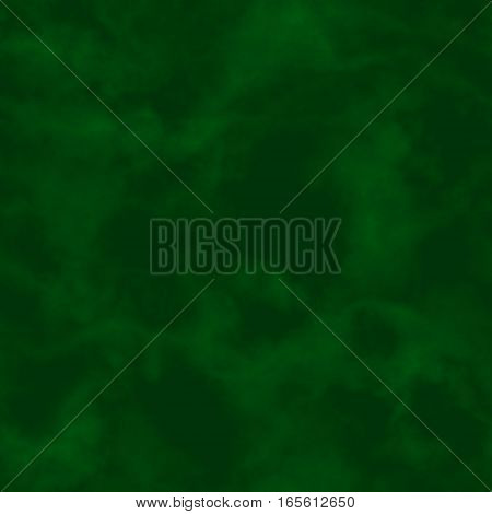 Abstract green smoke. Dark green clouds.  Cloudy pattern. Blurry gas. Steam. Fog.  Foggy texture background. Seamless illustration.