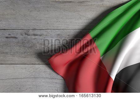United Arab Emirates Flag Waving