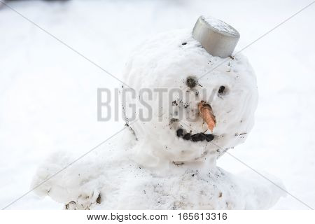 Snowman - Funny Traditional Snow Sculpture