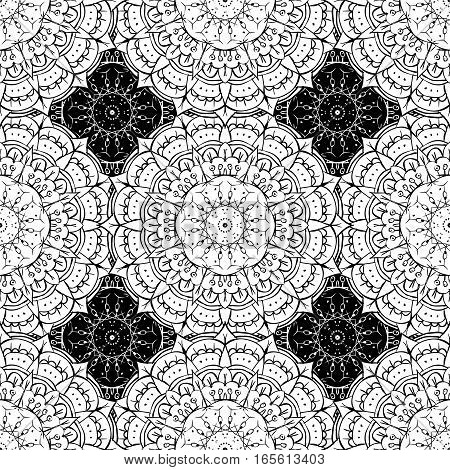Seamless Pattern - Abstract Black And White Background