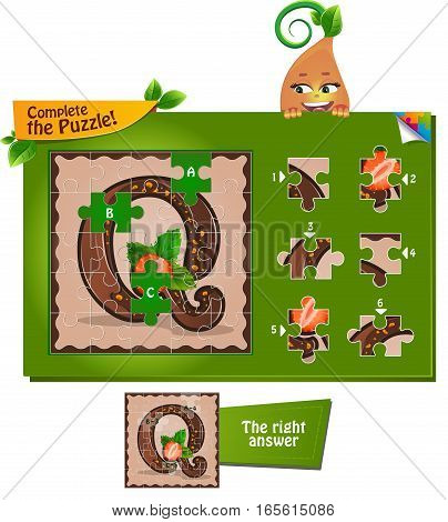 Puzzle Letters Of The Alphabet Q