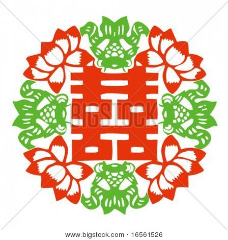 Vector of Ancient Traditional Artistic Chinese Pattern