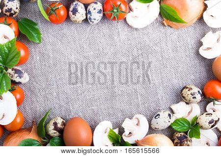 Raw Ingredients For Cooking
