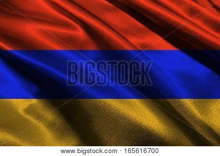 Armenia flag ,Armenia flag 3D illustration symbol.