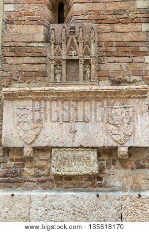 the church of Saint Giovanni in Foro in Verona. Italy