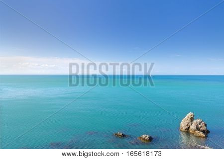 Cape Alchak / city Sudak Crimea travel bright summer photo