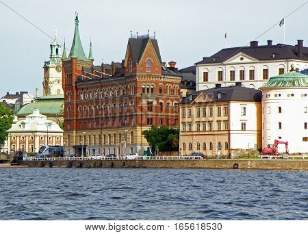Stunning Architecture along the river, Stockholm, Sweden