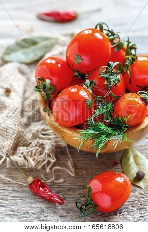 Salted Cherry Tomatoes.