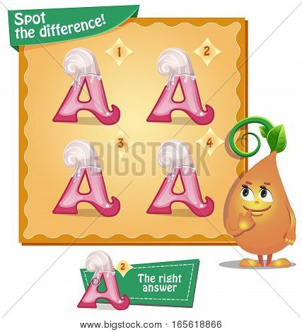 Spot The Difference Letters A