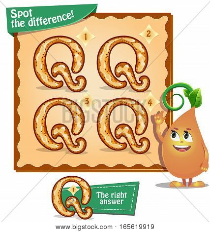 Spot The Difference Letters Q