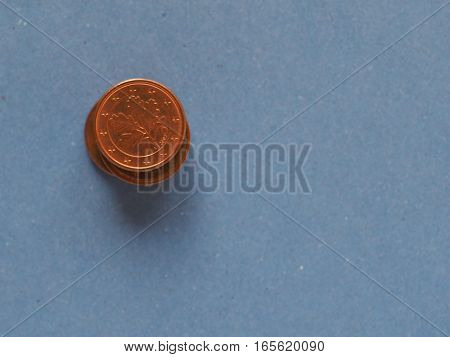 1 Cent Coin, European Union, Germany With Copy Space