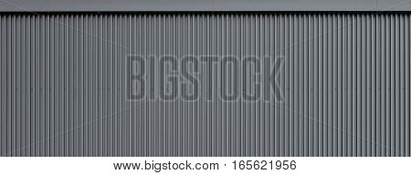 Corrugated metal wall texture, warehouse wall panoramic