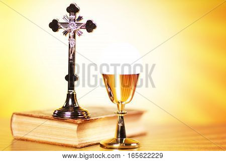 Religion theme, set of different religion objects