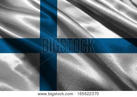 Finland flag ,Finland national flag 3D illustration symbol.