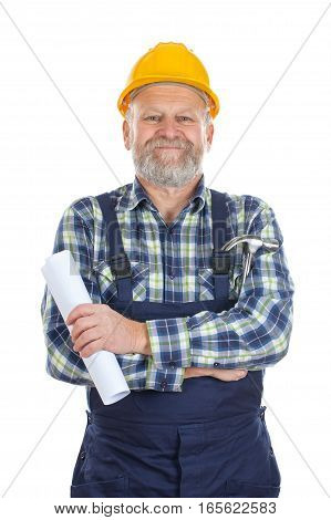 Picture of a proud engineer when finishing work