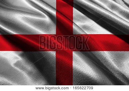 England national flag 3D illustration symbol.  England national flag