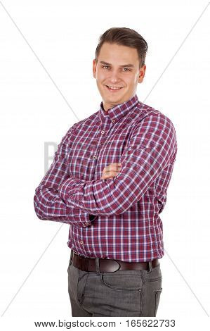 Picture of a confident young man with arms crossed