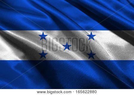 Honduras national flag 3D illustration symbol. Country in central america
