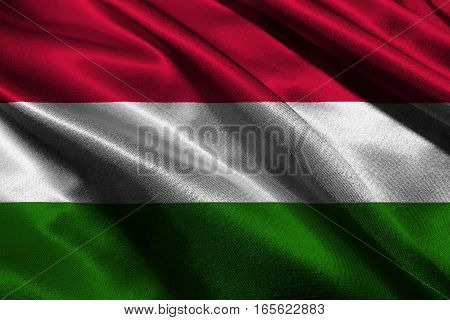 Hungary flag ,3D Hungary national flag 3D illustration symbol.
