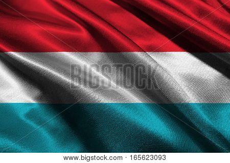 Luxemburg flag ,Luxemburg national flag 3D illustration symbol