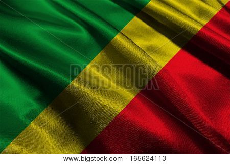 Republic of the congo flag ,Congo national flag 3D illustration symbol