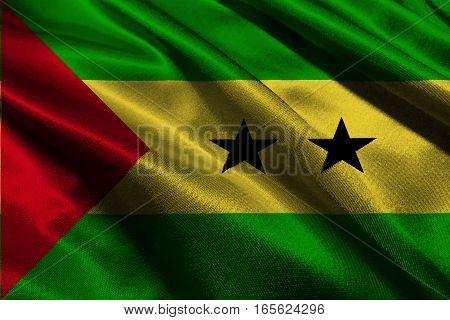 Sao Tome and Principe flag 3D illustration symbol