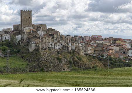 View of the medieval hamlet of Pietramontecorvino