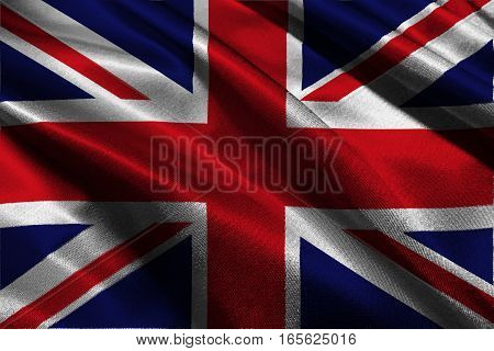 United Kingdom flag 3D illustration symbol. The kingdom
