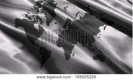 World map on the white background ,Earth map  3D illustration symbol