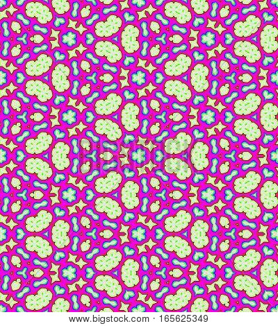 Abstract magenta colorful tile pattern background. Multicolor tiled textu