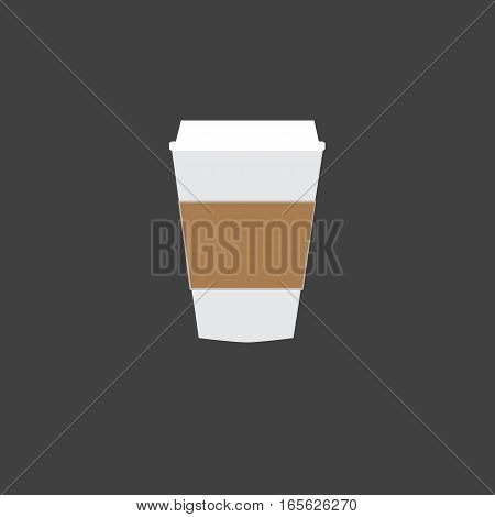 Disposable coffee cup icon. Disposable coffee cup sign.