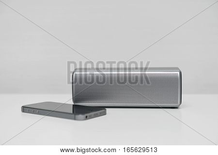 Mobile phone connected with the Mobile speaker